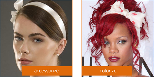 accessorize your hairstyle with ribbon