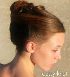 classy knot hair style