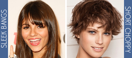 sleek bangs hairstyle for teens